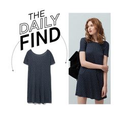 """The Daily Find: Mango Polka Dot Dress"" by polyvore-editorial ❤ liked on Polyvore featuring MANGO and DailyFind"