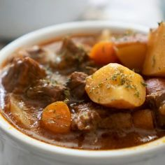 Must Try Recipes Fast, easy, and delicious, this easy Instant Pot Beef Stew cooks up in just an hour and tastes like its been simmering slowly all day long! It is the perfect easy Instant Pot recipe and comfort food for chilly winter evenings! Slow Cooker Recipes, Cooking Recipes, Beef Stew Recipes, Easy Beef Stew, Homemade Beef Stew, Beef Stew Meat, Fast Recipes, Cooking Games, Kitchen Recipes
