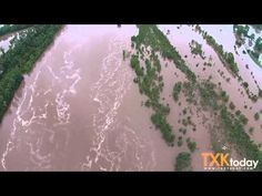 Red River Continues to Flood at Texas Oklahoma Border - YouTube