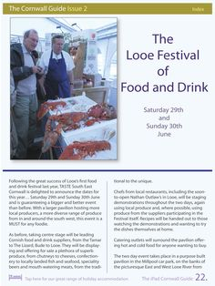 The Looe Food Festival featured in the iPad Cornwall Guide Spring Issue.
