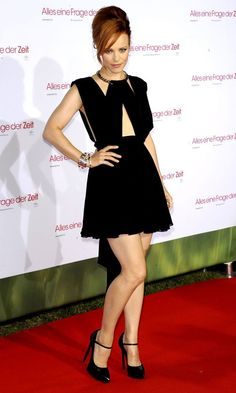 Rachel McAdams in cut-out  Saint Laurent dress at About Time premiere in Germany
