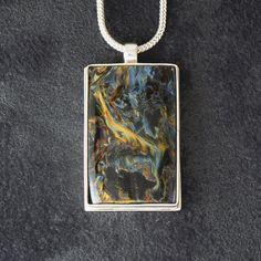 Seahorse big size featuring Pietersite by LittleWondrousMonkey Sterling Silver Pendants, Silver Jewelry, Monkeys, Gemstones, Big, Etsy, Rompers, Gems, Monkey