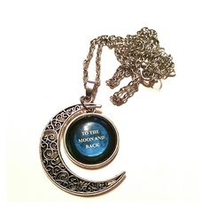 To The Moon and Back Crescent Moon Necklace Jewelry Necklaces