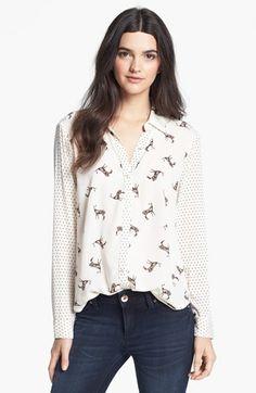 WANT!!!  Ella Moss 'Jane Doe' Mixed Print Shirt available at #Nordstrom