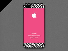 iPhone 4/4s Case  Zebra pattern on Hot pink iPhone 4s by evoncase, $15.00