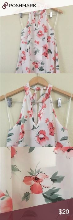 Beautiful flower top. Perfect for the summer . Brand new tags attached sienna sky Tops