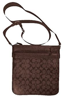 52b701c848 Coach Bowery Crossbody Signature PVC Messenger Bag Brown F71877MABR