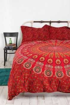 INDIAN Cotton Mandala Double Queen Size BedCover Quilt Duvet Doona Cover Blanket #Handmade #Country