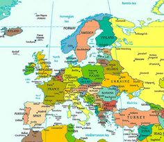 Europe Map / Map of Europe - Facts, Geography, History of Europe ...