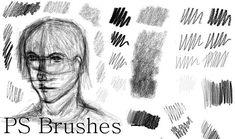 Photoshop Pencil Brushes by Dark-Zeblock