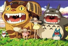 My Neighbor Totoro- a cool Japanese cartoon that features the loveable Totoro creatures and his friends including Satsuki and Mei (they so remind me of my little girls!!)
