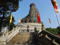 CHINE - HONG KONG - Ile de Lantau - Buddha assis de TIAN TAN Statue Of Liberty, Hong Kong, Buddha, Travel, Liberty Statue, Voyage, Viajes, Traveling, Trips