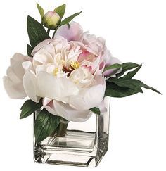 Go girly with peonies on any accent table or console.