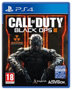 Call of Duty: Black Ops III with NUK3TOWN Map – Only at GAME  PlayStation 4 Cover Art