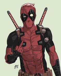 Deadpool!! Art by Dave Seguin