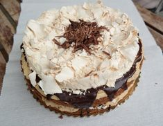 Mont Blanc torta | Mai Móni Cookie Recipes, Pie, Cookies, Sweet, Food, Shapes, Mont Blanc, Caramel, Recipes For Biscuits