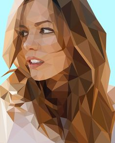 low polygon portrait - Google Search                                                                                                                                                                                 More