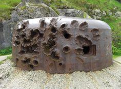 Saint-Malo+World+War+II | damaged world war ii bunker turret in saint malo