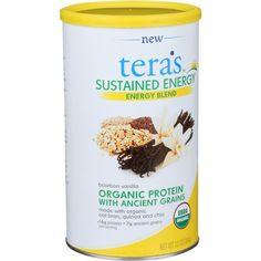 Teras Whey Sustained Energy - Bourbon Vanilla - 12 oz - prized by pastry chefs everywhere our vanilla bean is grown organically in Madagascar and blended with organic ancient grains including organic oat bran quinoa and chia seeds.combines organic protein with the goodness of ancient grains to create a convenient natural whole food energizer.offers 16g of naturally complete protein and 7g of ancient grains - a great tasting recipe for sustaining energy.made with great tasting organic milk…