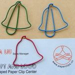I've got wire Claire that bends well - i might bring it as a spare activity - people can use their imagination to make bells x Paper Clips Diy, Diy Paper, Christmas Bells, Christmas Stockings, Wire Bookmarks, Rudolph The Red, Red Nosed Reindeer, Shape And Form, Wire Crafts