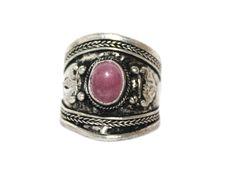 Rose quartz Adjustable yoga ring