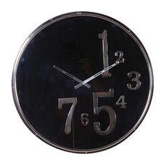 Round Black Wall Clock from Designersofas4u.co.uk