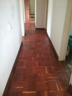 After sanding the parquet and one seal coat. so excited to see final product.