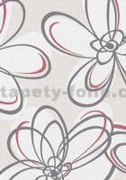 Vliesové tapety WohnSinn květy šedo-červené