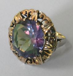 14.5 Ct Russian Alexandrite Ring, 24kt Yellow Gold, Sold for 65,750.00 USD
