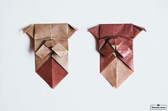 Herrchen kocht // www.herrchenkocht.de // DIY // Dog // dog origami // dog bookmark