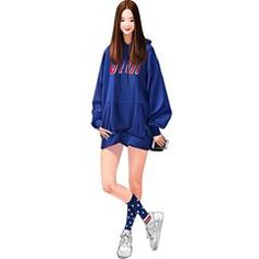 #jeonn00 Fashion Design Sketchbook, Fashion Illustration Sketches, Fashion Design Drawings, Fashion Sketches, Fashion Art, Girl Fashion, Fashion Outfits, Tmblr Girl, Poses References