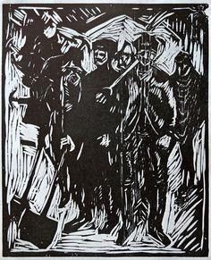 El rincón del perro mugre: Edvard Munch: Dibujos, grabados, litografías y técnicas similares
