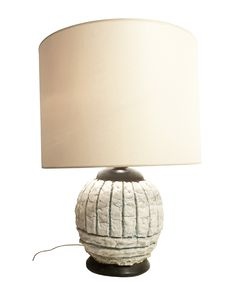 French Mid-Century Pottery Table Lamp circa 1960 by STUDIO VAN DEN AKKER