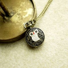 at Lalamagic //Little Owl Time Keeper Necklace