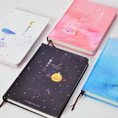 Cheap notebook Buy Quality notebook color directly from China hardcover notebook Suppliers: OUR STORY BEGINS Blue House Series Notebook Color Hardcover Notebook Fresh Beautiful Notebook Cover Design, Notebook Covers, Stationary Supplies, Cute Stationary, Cute Notebooks, Journals, Beautiful Notebooks, Korean Stationery, Kawaii Stationery