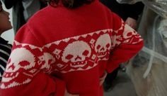 Skull knit jumper