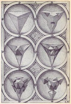 Ignis - Perspectiva Corporum Regularium -  Wenzel Jamnitzer 1568