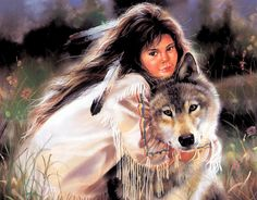 Indian and Wolf