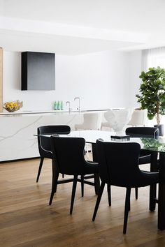 Markson Dining Chairs offering understated glamour in this dining space styled by Coco Republic Property Styling. Dining Chairs, Dining Room, Dining Table, Markson, Beach House, Lisa, New Homes, Glamour, Space