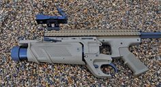 FN's Enhanced Grenade Launcher Module, the under barrel 40 mm grenade launcher for the SCAR. Shotguns, Firearms, Mk 17, Fn Scar, Love Gun, Modern Warfare, Guns And Ammo, Rifles, Hand Guns