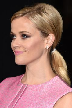 Reese Witherspoon rocks hers sleek, low, and gently side-parted.