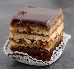 Creole Opera Cake from Chef Carlos Guia at Commander's Palace Cajun Desserts, Delicious Desserts, Opera Cake, Cake Recipes, Dessert Recipes, Eat Dessert First, Vegan Sweets, Restaurant Recipes, Let Them Eat Cake