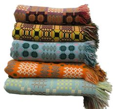 welsh blankets... I want to collect a dozen of these for my girls to inherit.....