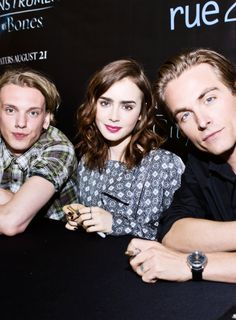 Kevin Zegers, Jamie Campbell Bower and Lily Collins