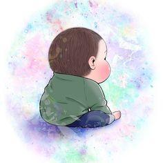 眼福…ぷにっぷに赤ちゃんの、超愛しい瞬間。うちの子もこの顔する〜!   Conobie[コノビー] Baby Cartoon, Baby Art, Movie Posters, Kids, Image, Phone, Young Children, Children, Telephone