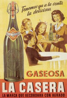 La Casera is a traditional Spanish brand of soda in Spain. Éphémères Vintage, Vintage Labels, Vintage Prints, Vintage Food, Old Posters, Travel Posters, Vintage Advertising Posters, Vintage Advertisements, Wow Art