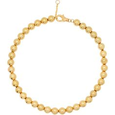 Eklexic Medium Gold Ball Choker ($115) ❤ liked on Polyvore featuring jewelry, necklaces, gold bead necklace, bead necklace, bead chain necklace, long necklace and gold chain choker