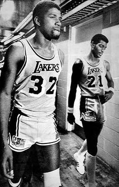 Magic Johnson and Michael Cooper