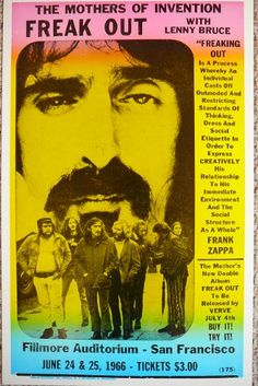 The Mother's of Invention Freak Out w/ Lenny Bruce & Frank Zappa