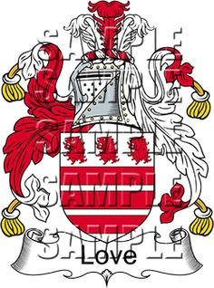 Love Family Crest apparel, Love Coat of Arms gifts